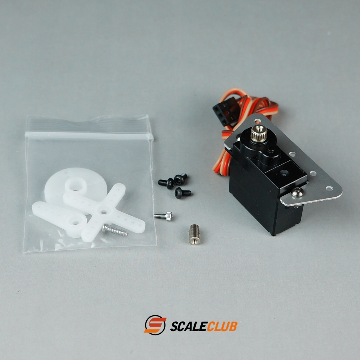 SCALECLUB  1/14 Universal  Lock difference steering gear with mounting bracket