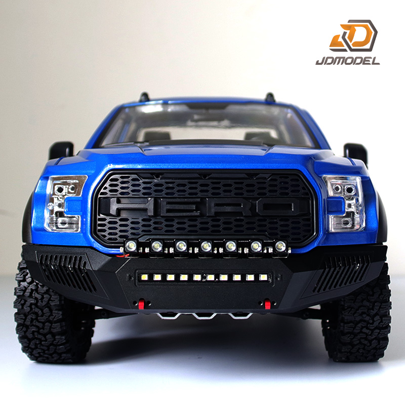 JDMODEL 1:10 F-150 truck With net front bar remote control simulation climbing, four-drive pickup model