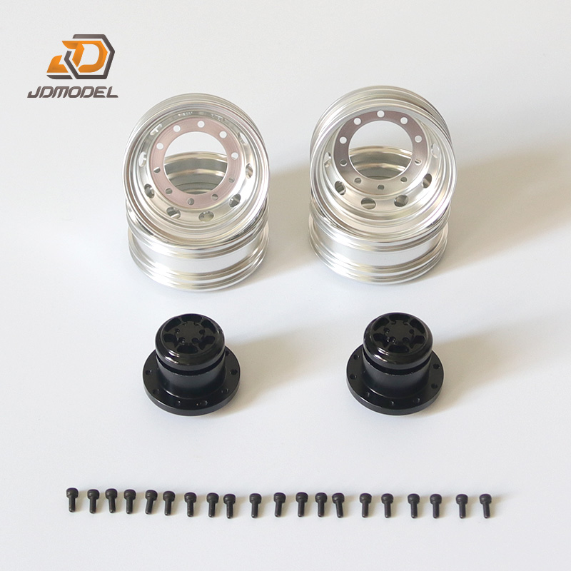 JD model 1:14 metal wheel hub of tractor model wheel drum tamiya tractor hub rear narrow wheel hub