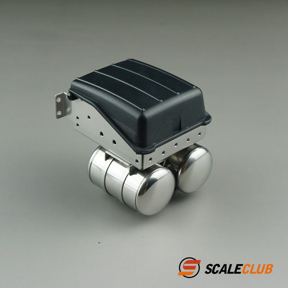 SCALECLUB  Benz AROCS 3348/3363  Metal Upgrade of Simulated Battery Box Gas Tank