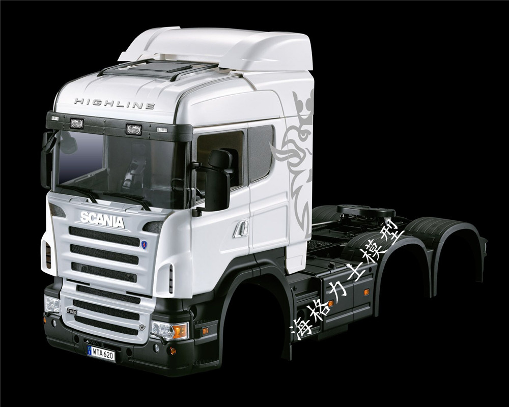 HERCULES MODEL 1:14 series scania triaxial middle head tractor (car shell)